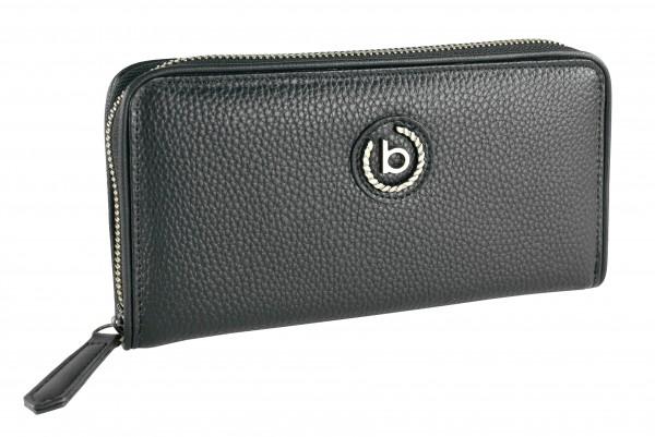 Bugatti Passione Langbörse mit Reißverschluss schwarz