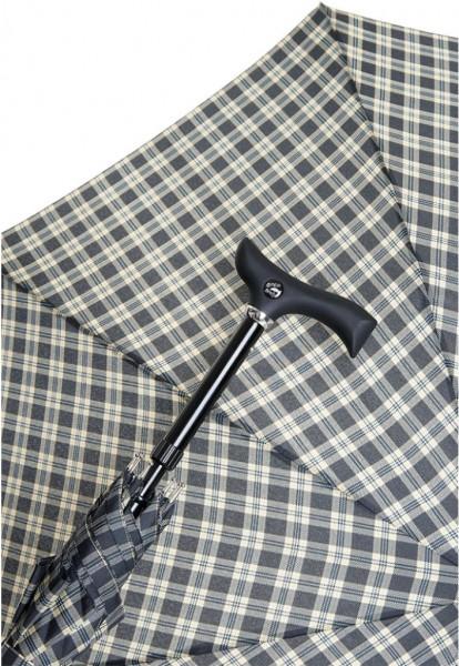 Regenschirm Stützschirm Stepbrella Karo schwarz beige