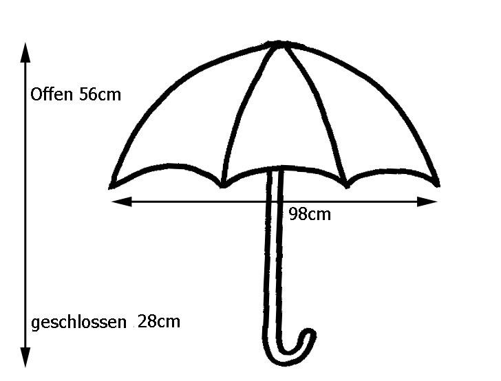 Clima M/&P Flachschirm Taschenschirm Mini-Gestell Automatik Regenschirm