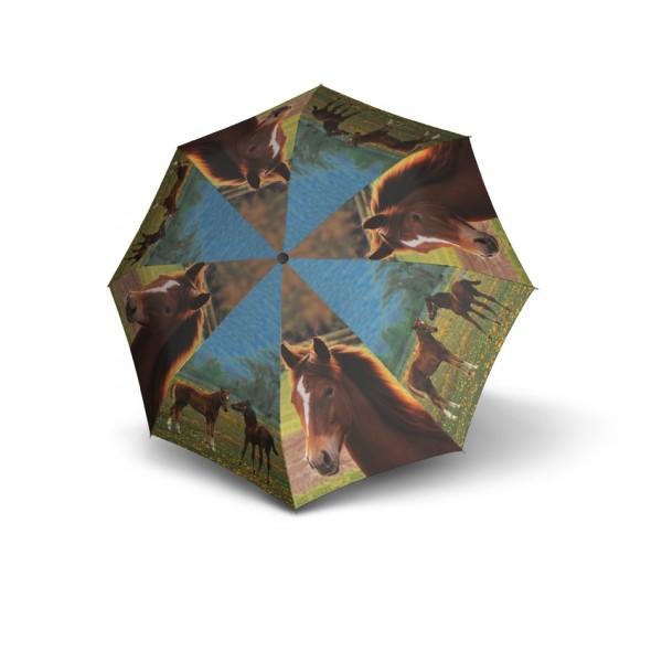 Regenschirm Doppler Pferde